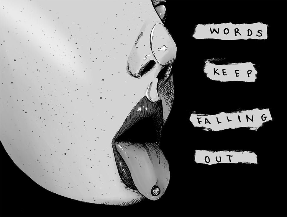 words keep falling out